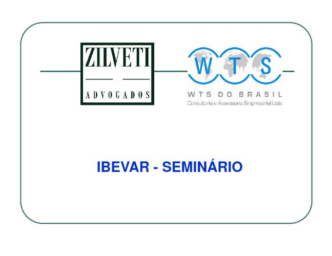 Seminário IBEVAR