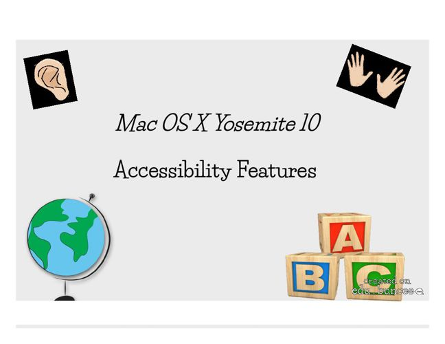 Accessibility Features Mac OS X