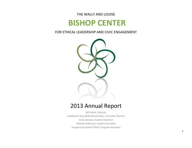Bishop Center's 2013 Annual Report