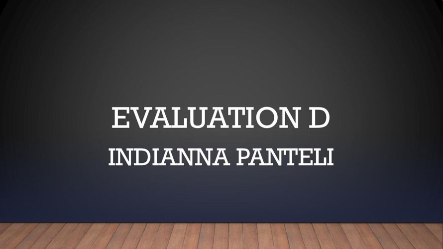 EVALUATION D- INSTITUTIONS