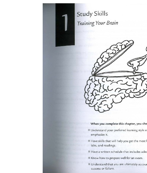 Chapter 1:  Study Skills:  Training your Brain
