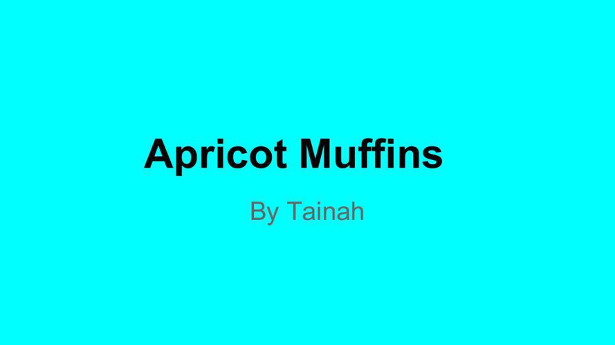 Muffins Making