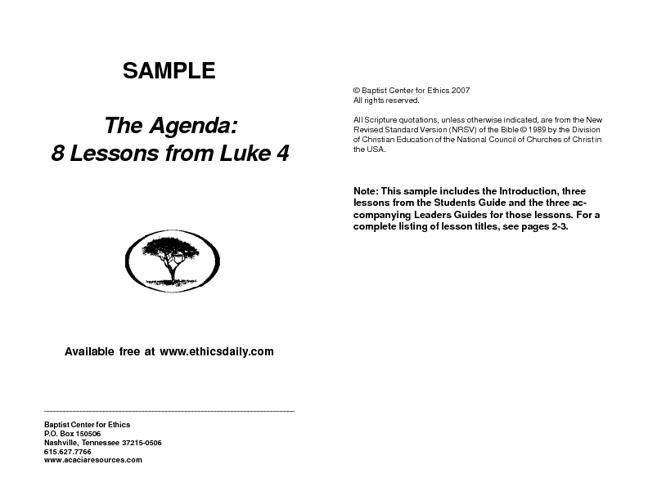The Agenda 8 Lessons from Luke
