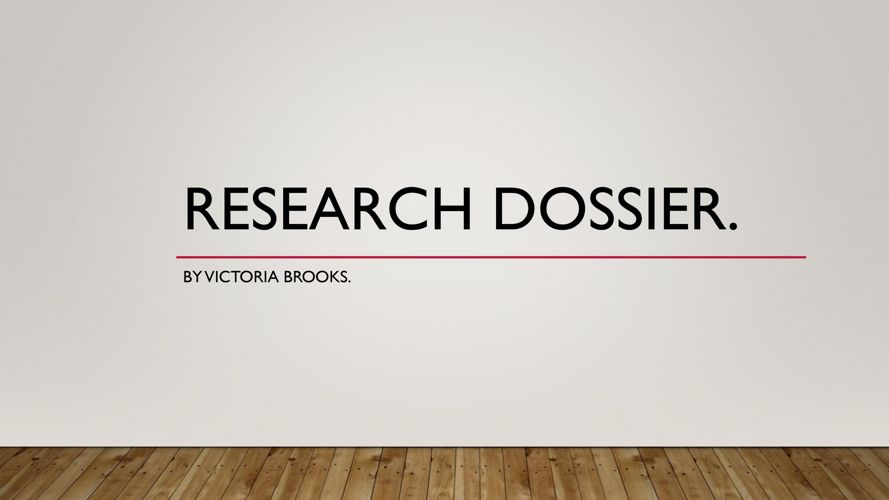 Research dossier