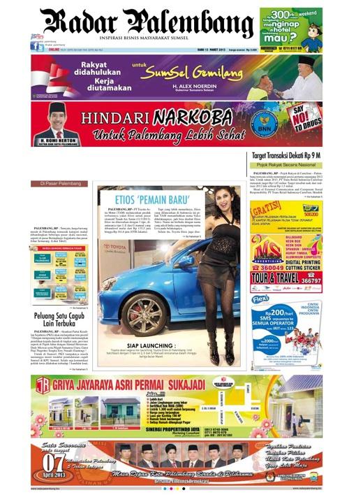 Radar Palembang Edisi 13-03-2013 Koran 1