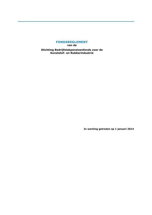 Fondsreglement per 1-1-2014