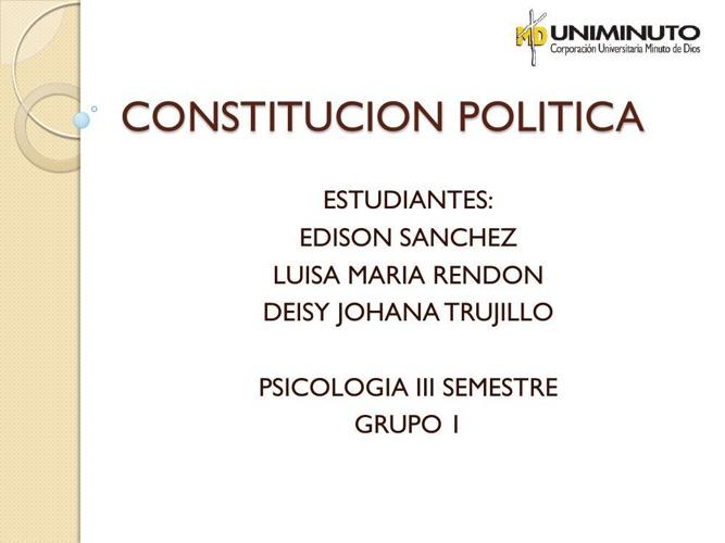 CONSTITUCION POLITICA- LIBRO