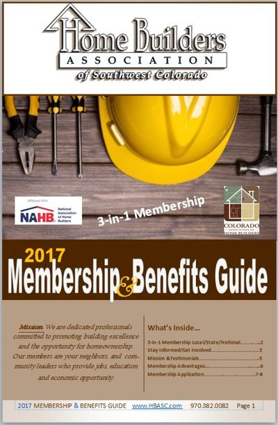 2017 HBASC Membership Benefits