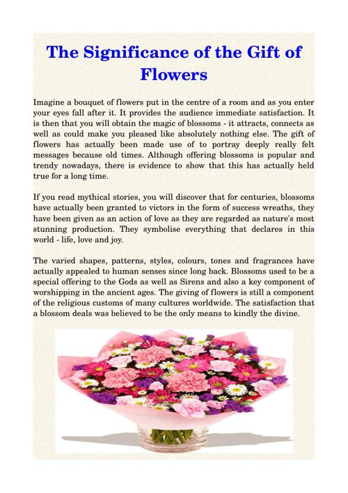 The Significance of the Gift of Flowers
