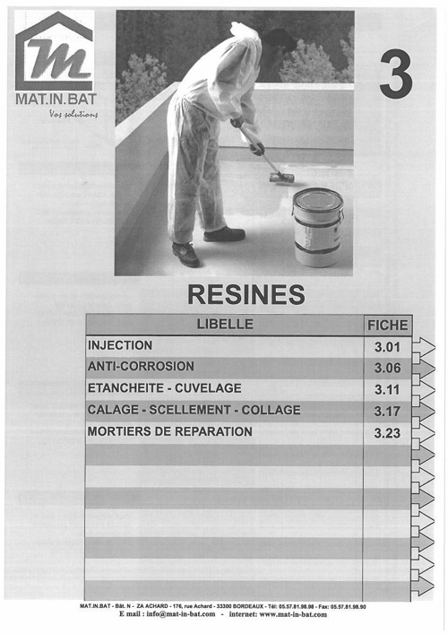 Catalogue Résine