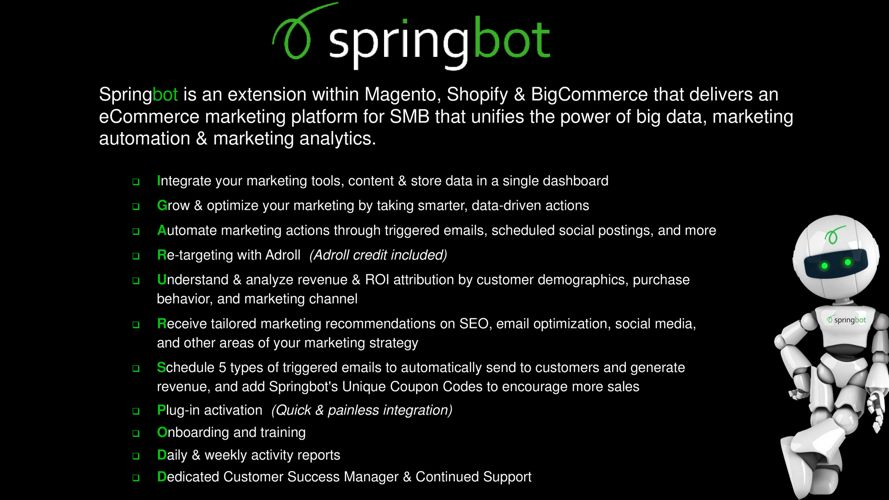 Springbot Overview
