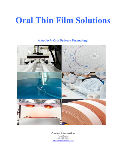 Oral Thin Film Solutions