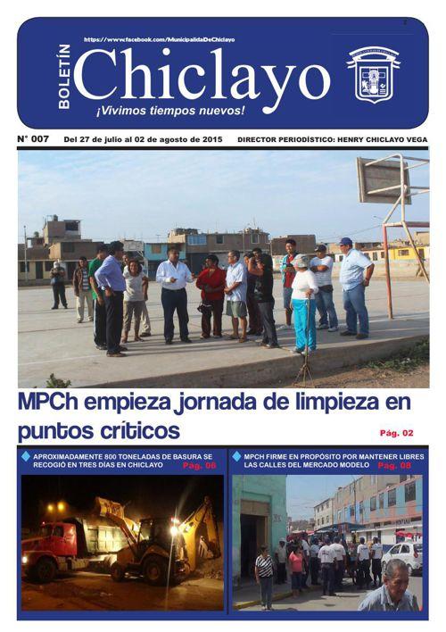 """Boletín """"Chiclayo"""" - N° 007"""