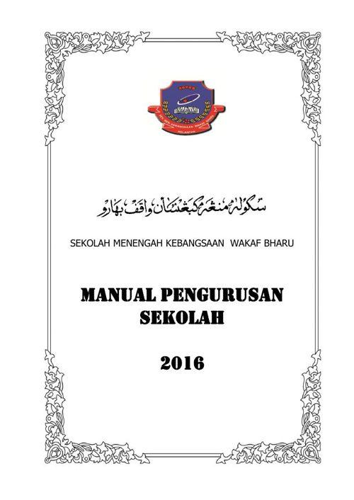 Manual Pengurusan 2016pindaanB5