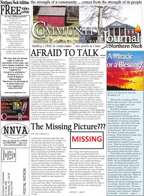 The Community Journal of the Northern Neck . June 2014