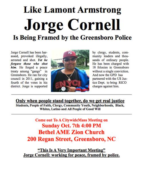Free Jorge Cornell Campaign