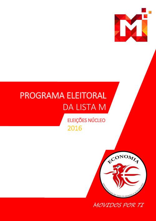 Programa Eleitoral da Lista M