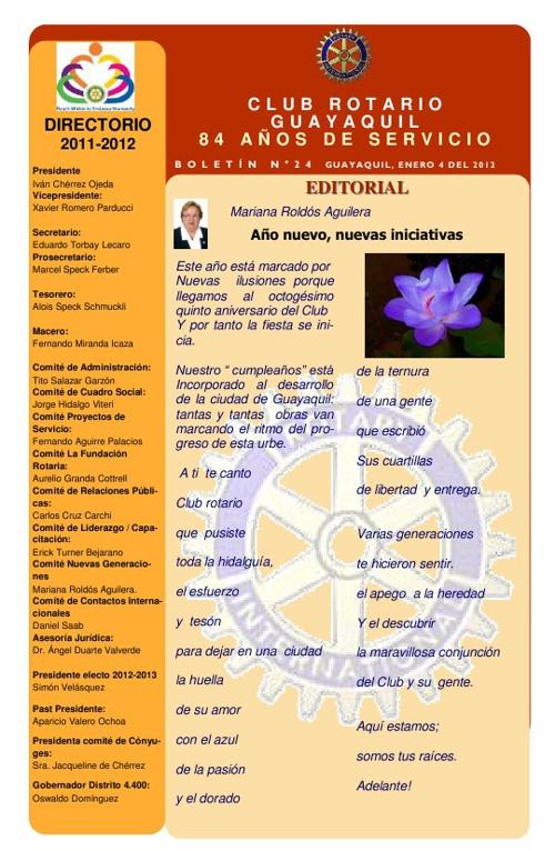 Boletines 2011 - 2012 Club Rotario Guyaquil