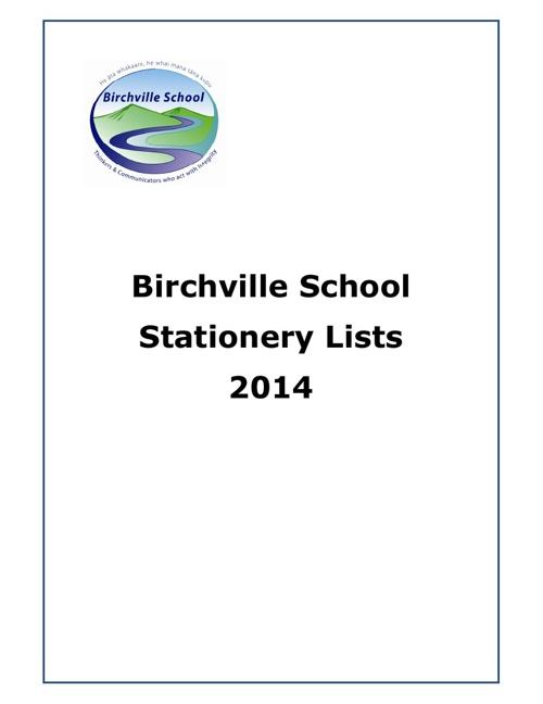 Stationery Lists 2014