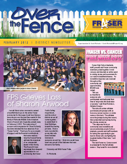 Over the Fence District Newsletter - February 2012