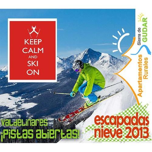 Campaña nieve Aptos Sierra de Gúdar Keep Calm