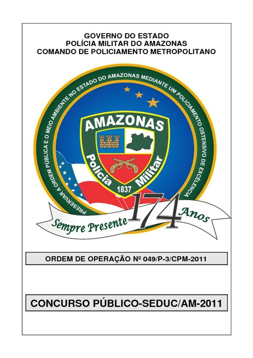 Ordem de Operação nº 049/P-3/CPM, de 17 de maio de 2011.