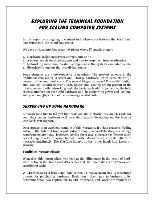 Exploring the Technical Foundation for Scaling Computer Systems