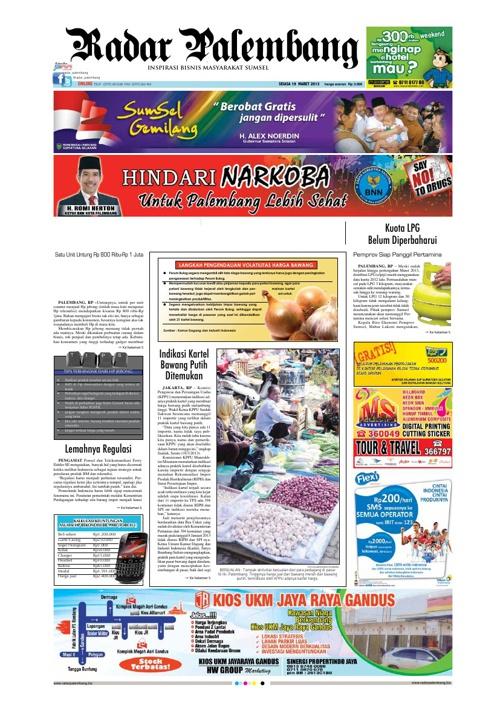 Radar Palembang Edisi 19-03-2013 Koran 1