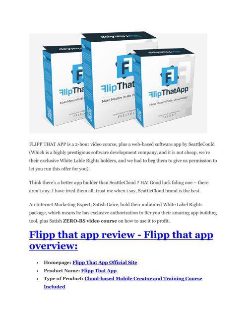 Flipp That App Review - $24,700 BONUS & DISCOUNT