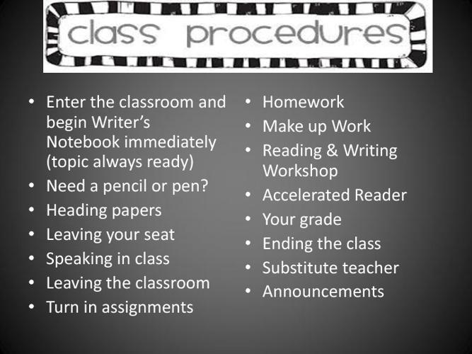 Mrs. Hull's Class Procedures