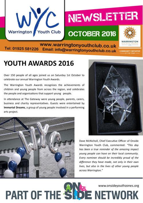 WYC Newsletter October 2016