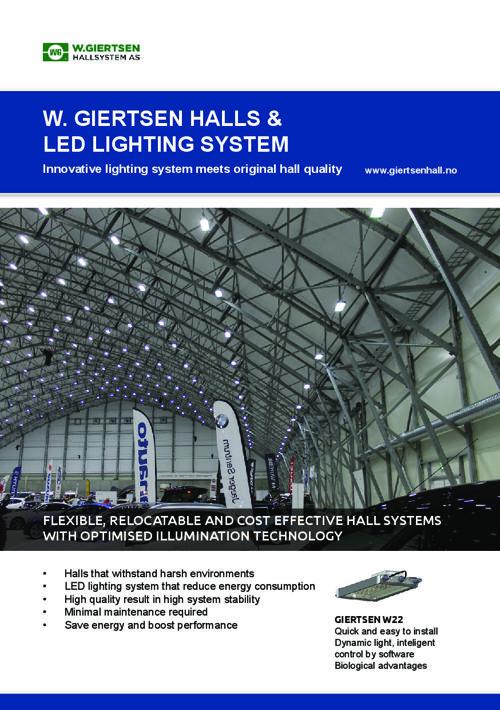 W.Giertsen Hallsystem LED lights