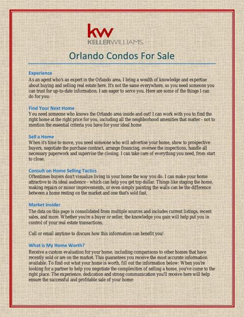 Orlando Condos For Sale
