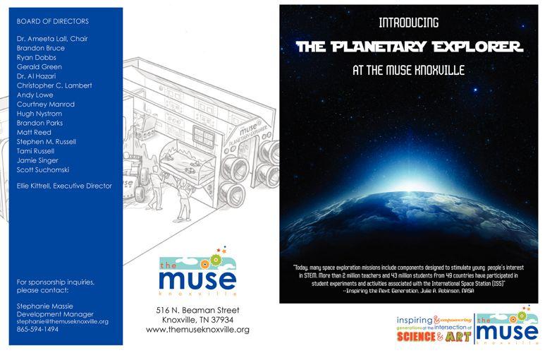 Planetary Explorer Sponsor Brochure