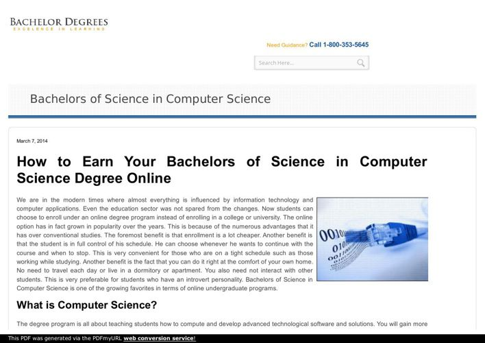 Become computer scientist with online bachelor science computer