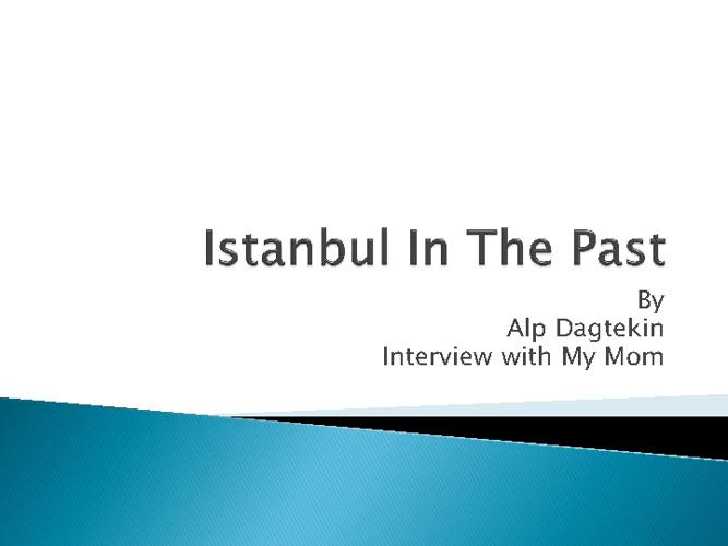 Old Istanbul Flipbook