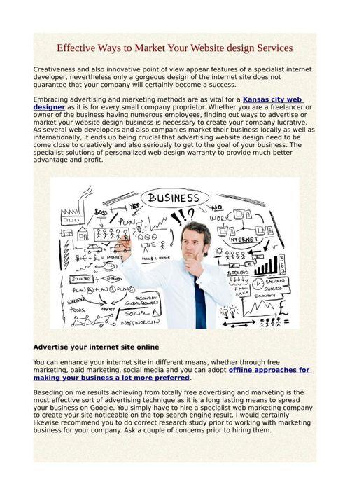 Effective Ways to Market Your Website design Services