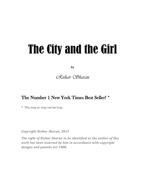 The City and the Girl