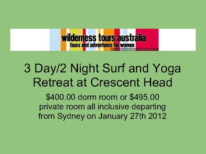 Example of a Surf and Yoga Retreat