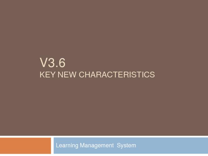 v3.6 -What's New