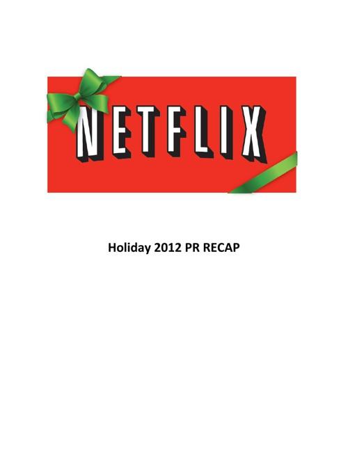 Holiday 2012 PR Recap