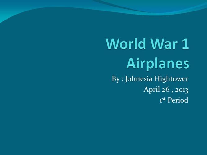World War 1 Airplanes