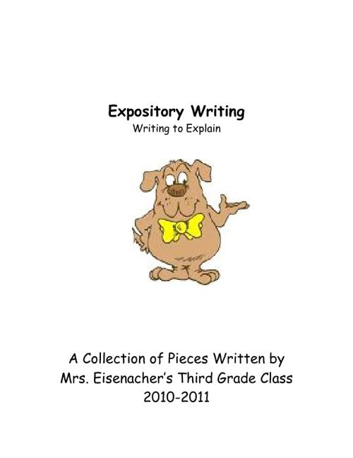 Expository Writing- Writing to Explain