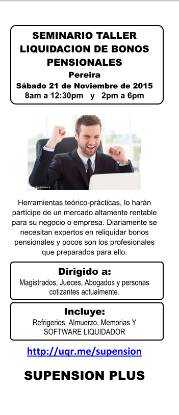 SEMINARIO TALLER LIQUIDACION DE BONOS PENSIOANLES