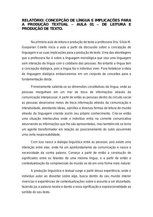 Portifólio Leitura e Produção de Texto