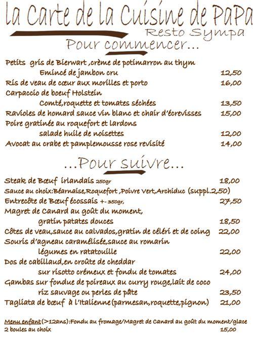 Restaurant  La Cuisine de Papa.