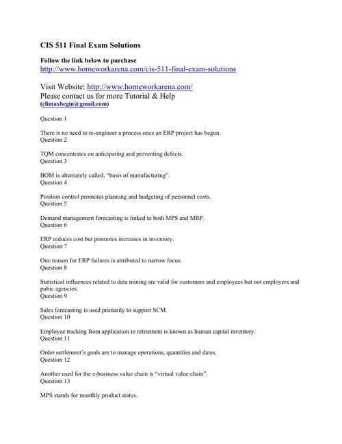 CIS 511 Final Exam Solutions