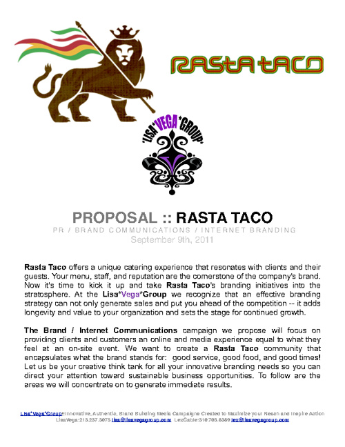 Copy of RASTA TACO::Proposal
