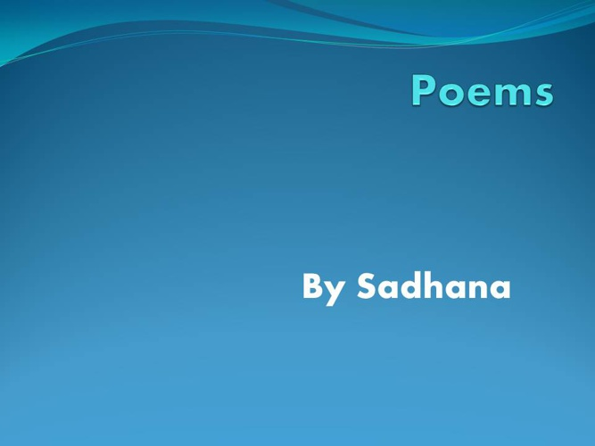 Sadhana's poetry book