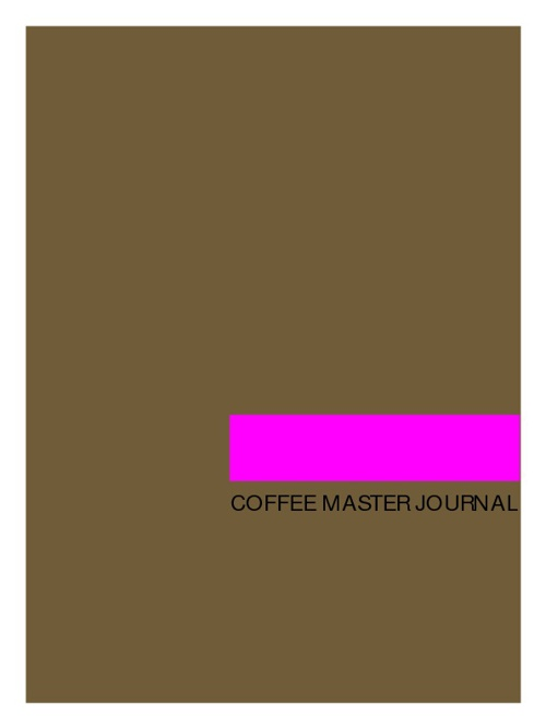 Coffee Master Journal // Español